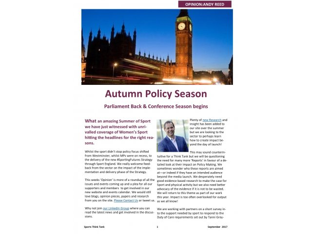 Autumn Policy Season