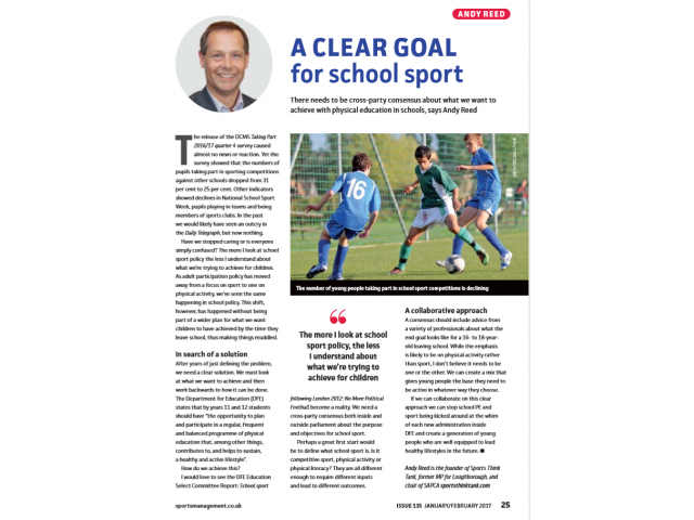School Sport and PE Policy