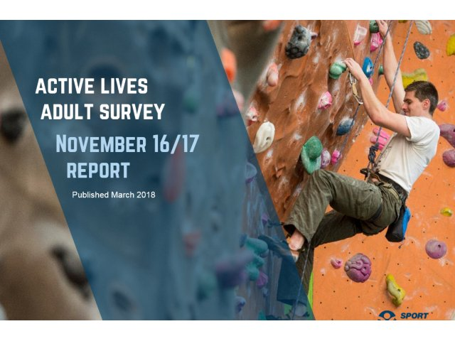New Active Lives Adult Survey figures give a snapshot of the nation's activity habits