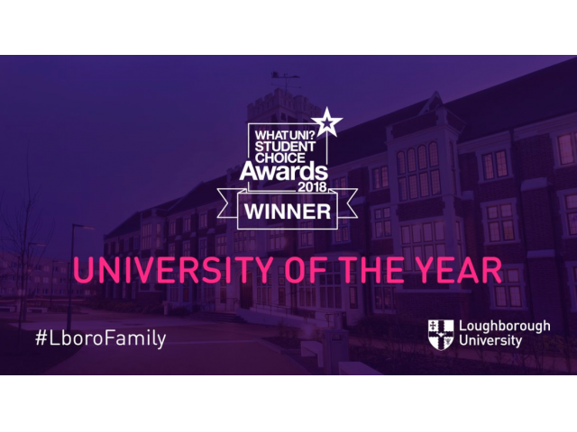 Loughborough named University of the Year at the Whatuni Student Choice Awards 2018