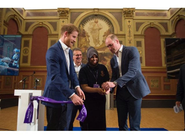 The Duke of Cambridge and Prince Harry launch the Greenhouse Centre