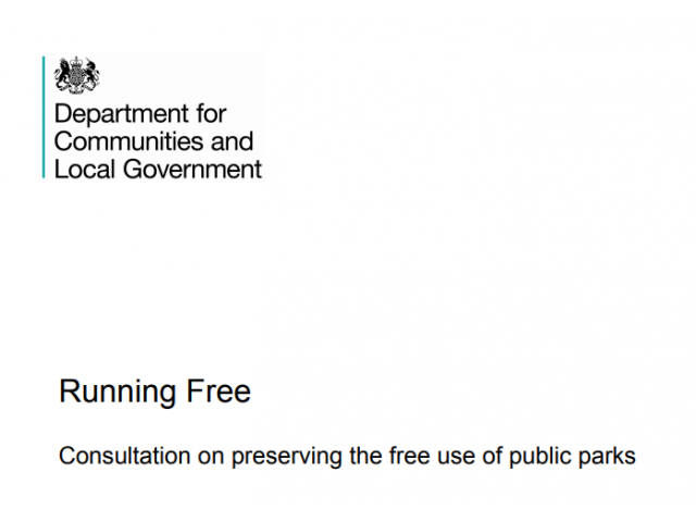 Running Free - Government Responds to Consultation on Preserving the Gree Use of Parks