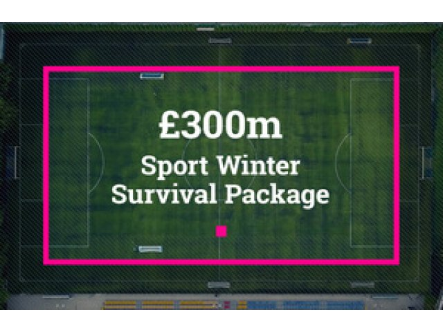 Government announces £300 million Sport Winter Survival Package to help spectator sports in England