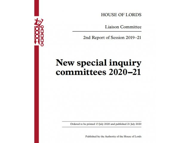 National Plan for Sport and Recreation - House of Lords Committee