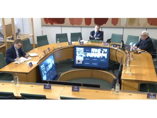 DCMS Select Committee Evidence Sessions 1st December